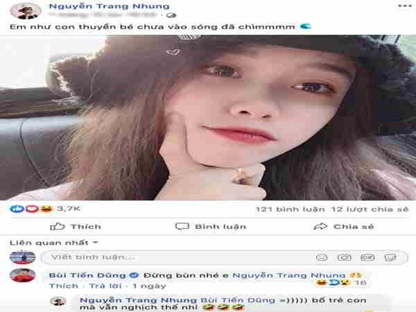 Bùi Tiến Dũng trêu chọc bạn gái Văn Toàn trên mạng xã hội