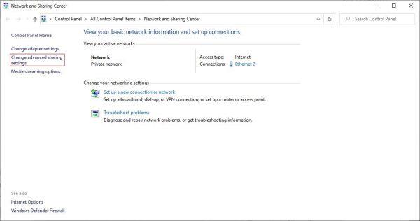 Cách chia sẻ dữ liệu qua mạng LAN trên Windows 7/8/10 bước 1