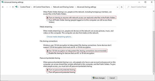 Cách chia sẻ dữ liệu qua mạng LAN trên Windows 7/8/10 bước 2