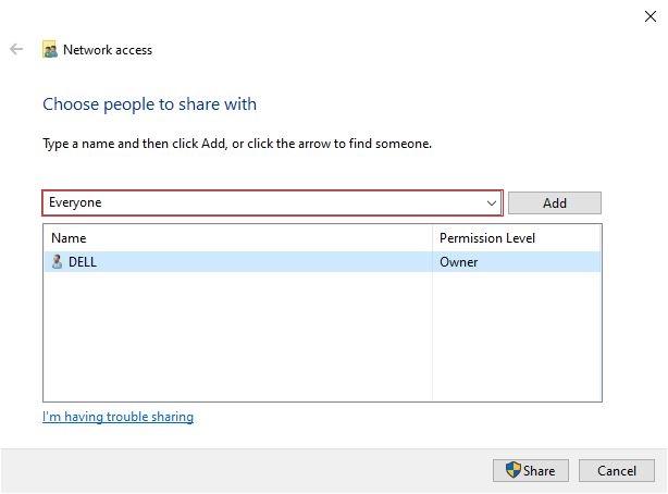 Cách chia sẻ dữ liệu qua mạng LAN trên Windows 7/8/10 bước 3