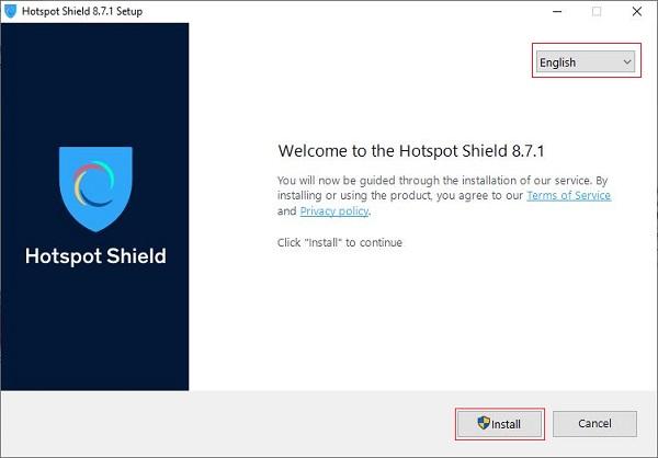 Cách cài đặt Hotspot Shield để truy cập Website bị chặn bước 1