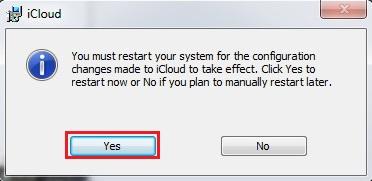 Cách cài đặt iCloud trên máy tính bước 2
