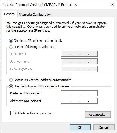Đổi DNS