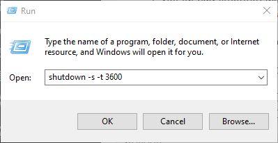 Cách hẹn giờ tắt máy tính đơn giản không cần phần mềm bước 2