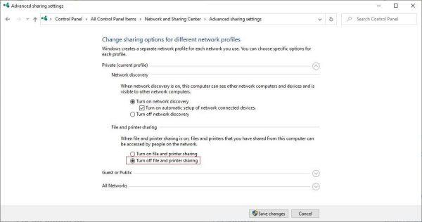 Loại bỏ password khi vào máy tính khác trong cùng mạng LAN trên Win 10 Bước 2