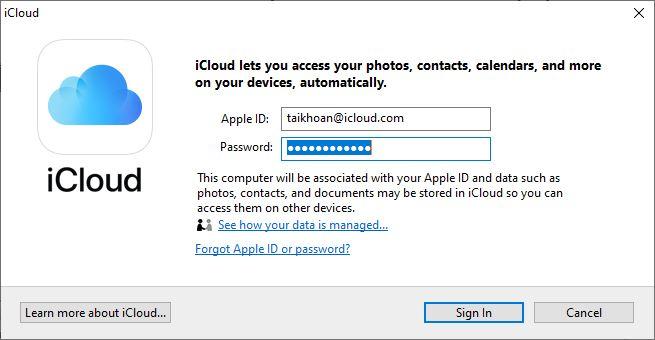 Cách sử dụng iCloud trên máy tính bước 1