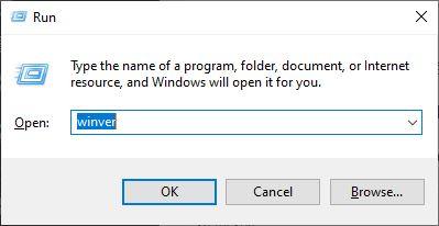 Sử dụng lệnh kiểm tra phiên bản Windows 10 Bước 1