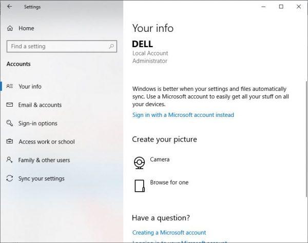 Hướng dẫn thoát tài khoản Microsoft trên Win 10bước 2