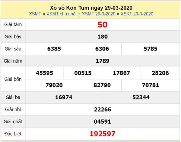 Dự đoán XSKT 26/4/2020 - KQXS Kon Tum hôm nay