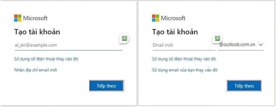 Cách đăng ký tài khoản Hotmail/ Outlook trên máy tính - Bước 1