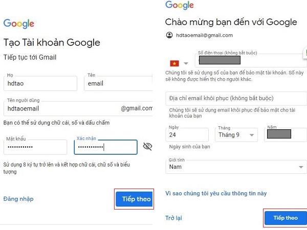 Cách tạo tài khoản email Gmail trên máy tính dễ dàng Bước 1
