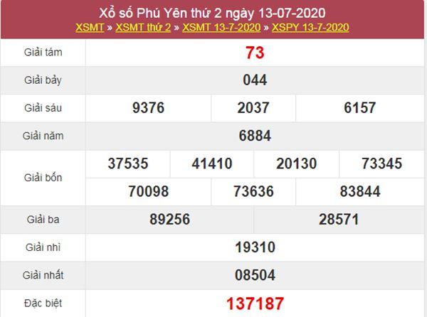 Dự đoán XSPY 20/7/2020 chốt KQXS Phú Yên thứ 2
