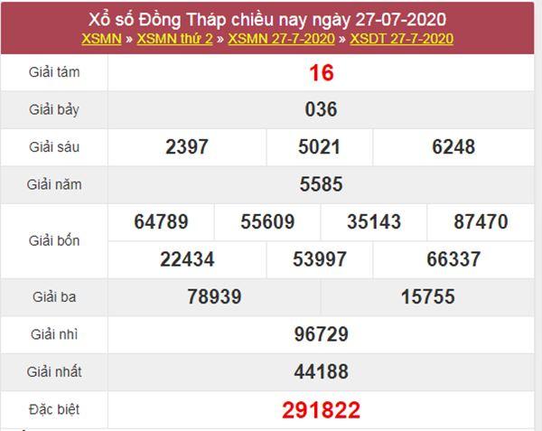 Dự đoán XSDT 3/8/2020 chốt lô VIP Đồng Tháp thứ 2