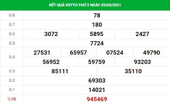 Dự đoán kết quả XS Thừa Thiên Huế Vip ngày 05/04/2021
